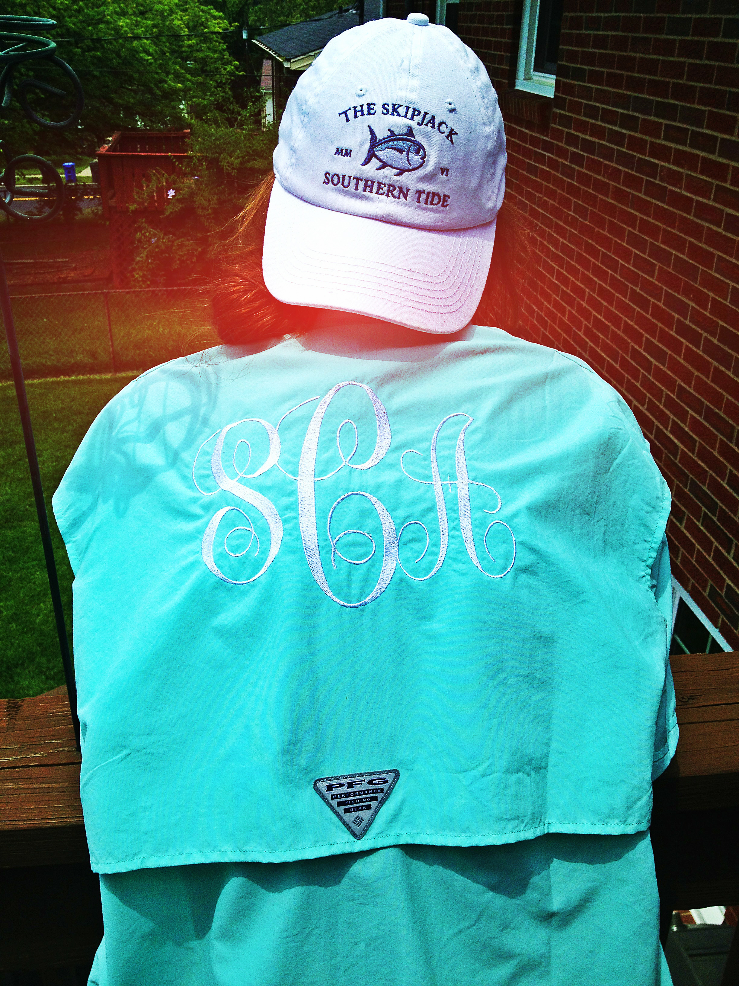 Monogrammed pfg the only pfg i would probably ever wear for Monogrammed fishing shirts