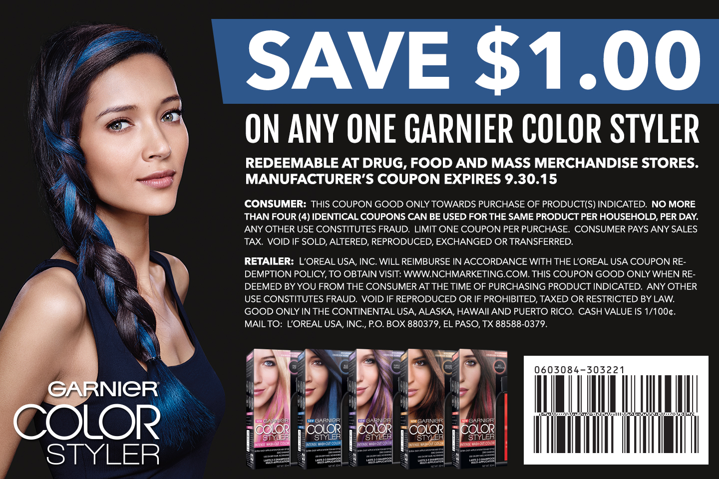 game day style bleeding blue with garnier color styler space place southern gracespace place southern grace - Garnier Color Styler