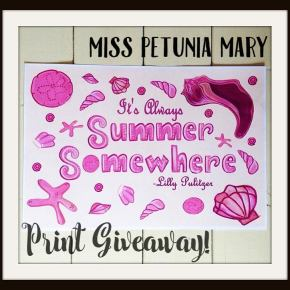 GIVEAWAY Lilly Pulitzer-Inspired Print